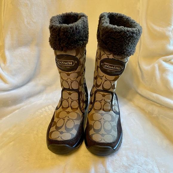 Coach boots with Vibram soles Sz 7